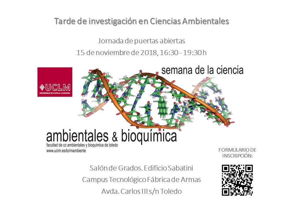 https://www.toledo.es/wp-content/uploads/2018/11/semana-ciencia.jpg. Semana de la Ciencia: Tarde de Investigación en Ciencias Ambientales.