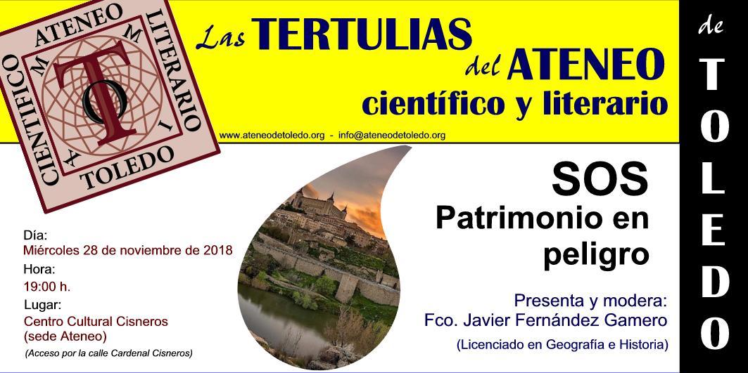 http://www.toledo.es/wp-content/uploads/2018/11/sos-patrimonio.jpg. Las tertulias del Ateneo