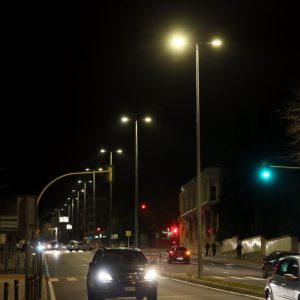 l Ayuntamiento mejora el alumbrado público con la instalación de luminarias led en la avenida de Portugal y la calle Andalucía