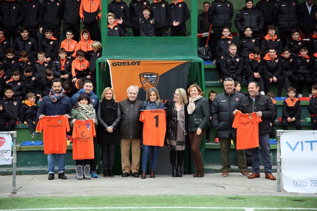 """La alcaldesa destaca el trabajo que realiza la escuela Odelot con el deporte base y desea a sus equipos """"todos los éxitos"""" para 2019"""