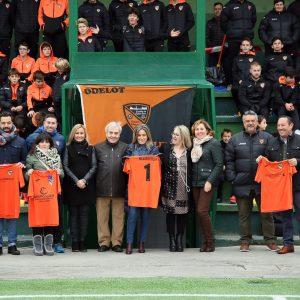 """a alcaldesa destaca el trabajo que realiza la escuela Odelot con el deporte base y desea a sus equipos """"todos los éxitos"""" para 2019"""