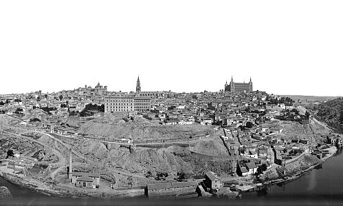 http://www.toledo.es/wp-content/uploads/2018/12/1932_parnoramica.jpg. Nuestro regalo de Reyes: Una panorámica de Toledo desde los cigarrales de 1932