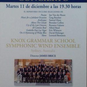 CONCIERTO BANDA KNOX GRAMMAR SCHOOL