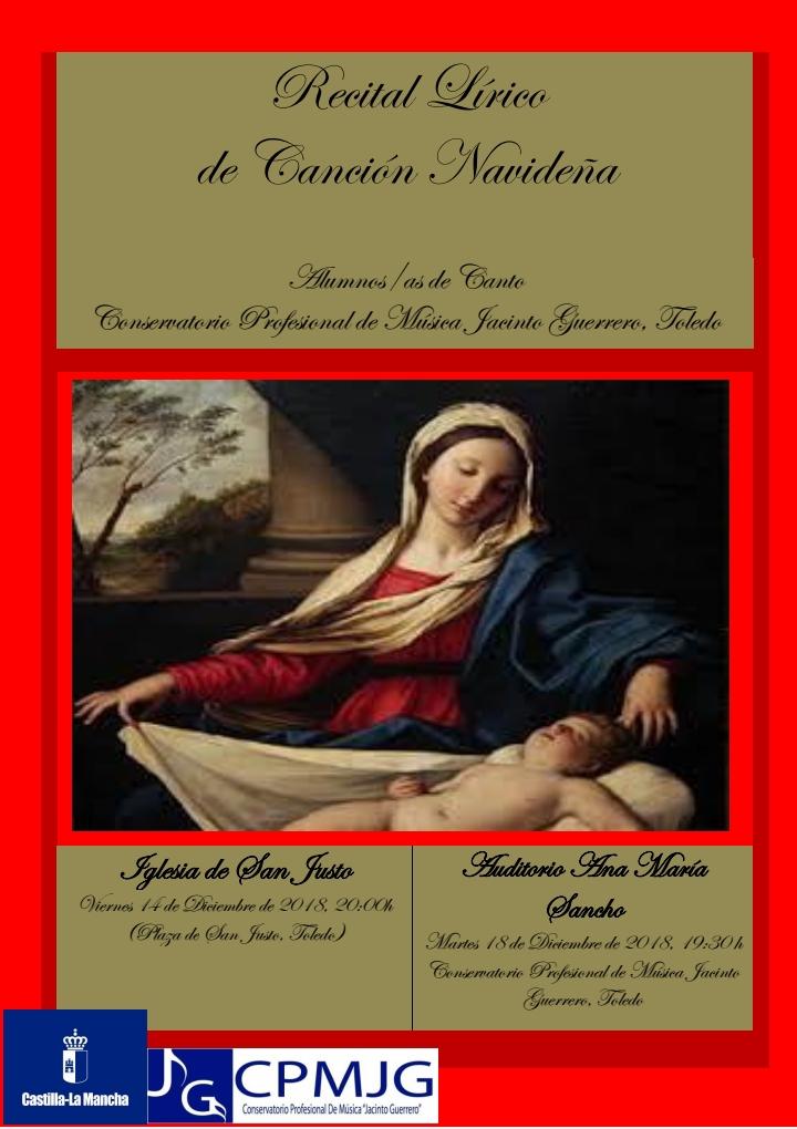 http://www.toledo.es/wp-content/uploads/2018/12/cartel-anunciador-recital-cancion.jpg. Recital lírico de canción navideña