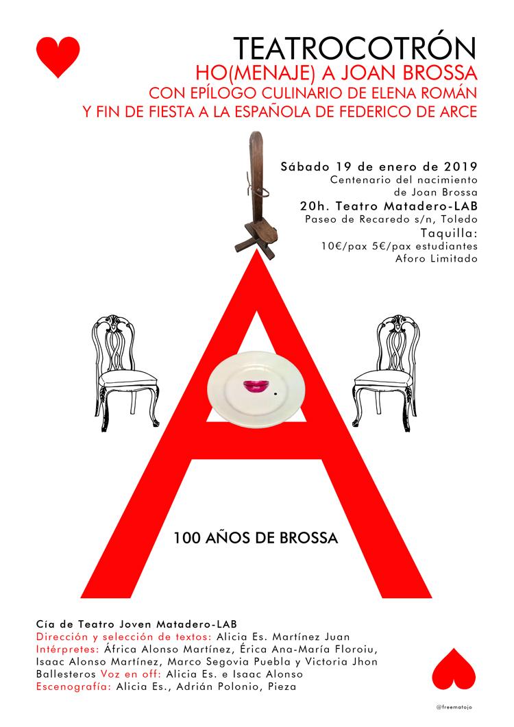 http://www.toledo.es/wp-content/uploads/2018/12/cartel-teatrocotron-web.jpg. TEATROCOTRÓN Ho(menaje) a Joan Brossa