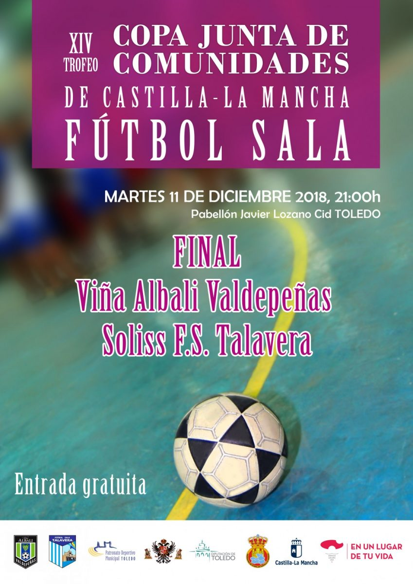 http://www.toledo.es/wp-content/uploads/2018/12/cartel_futbolsala_valdepenastalavera-849x1200.jpg. Copa Junta de Comunidades de Castilla-La Mancha de Fútbol-Sala