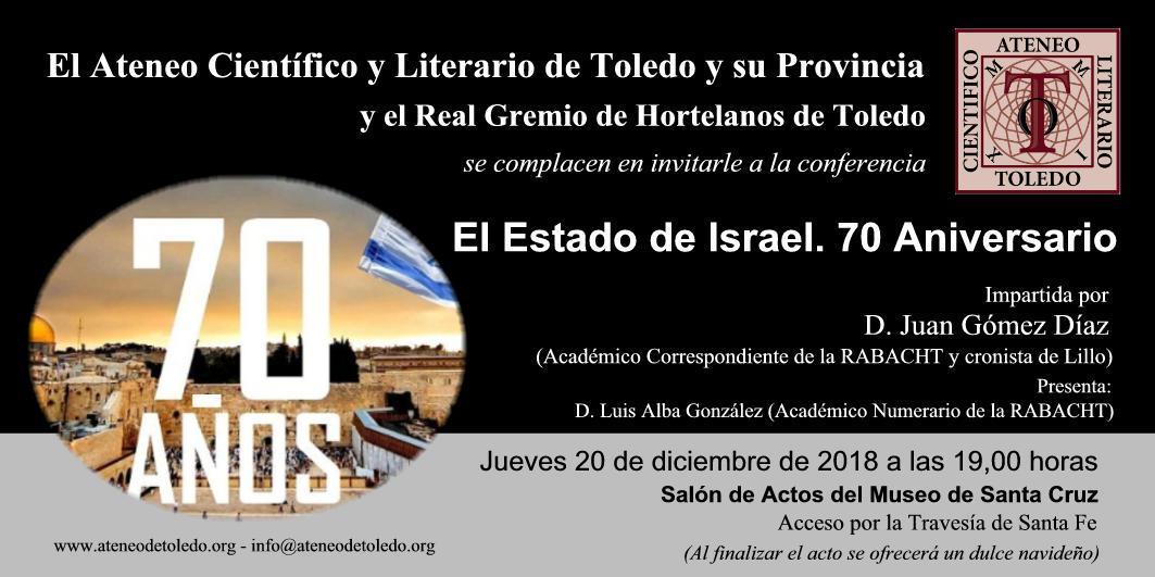 http://www.toledo.es/wp-content/uploads/2018/12/conferencia-estado-de-israel-2.jpg. Conferencia sobre el 70 aniversario del Estado de Israel