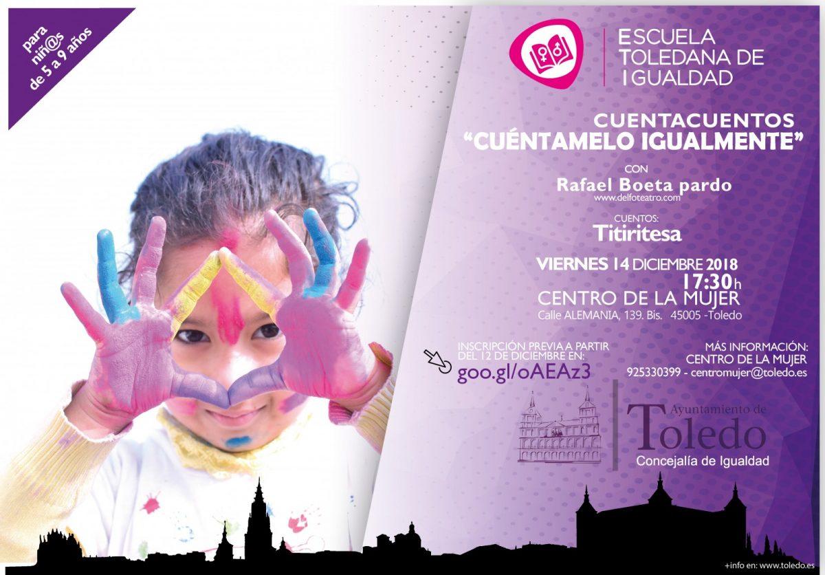"http://www.toledo.es/wp-content/uploads/2018/12/cuentos-14dic-01-1200x836.jpg. ETI. CUENTACUENTOS ""CUÉNTAMELO IGUALMENTE"" 14 DICIEMBRE 2018"