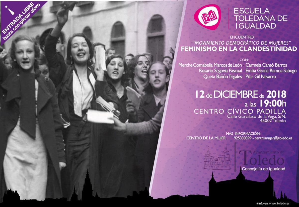 """http://www.toledo.es/wp-content/uploads/2018/12/encuentro-mdm-definitivo-1200x830.jpg. ETI. ENCUENTRO CON EL MOVIMIENTO DEMOCRÁTICO DE MUJERES. FEMINISMO EN LA CLANDESTINIDAD"""""""