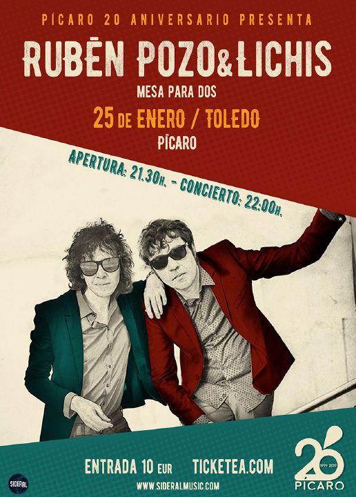 http://www.toledo.es/wp-content/uploads/2018/12/ruben-pozo.jpg. PÍCARO 20 ANIVERSARIO: RUBEN DEL POZO & LICHIS.