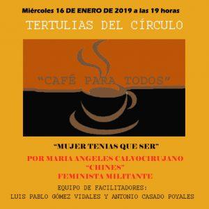 """Tertulia """"Café para todos"""""""
