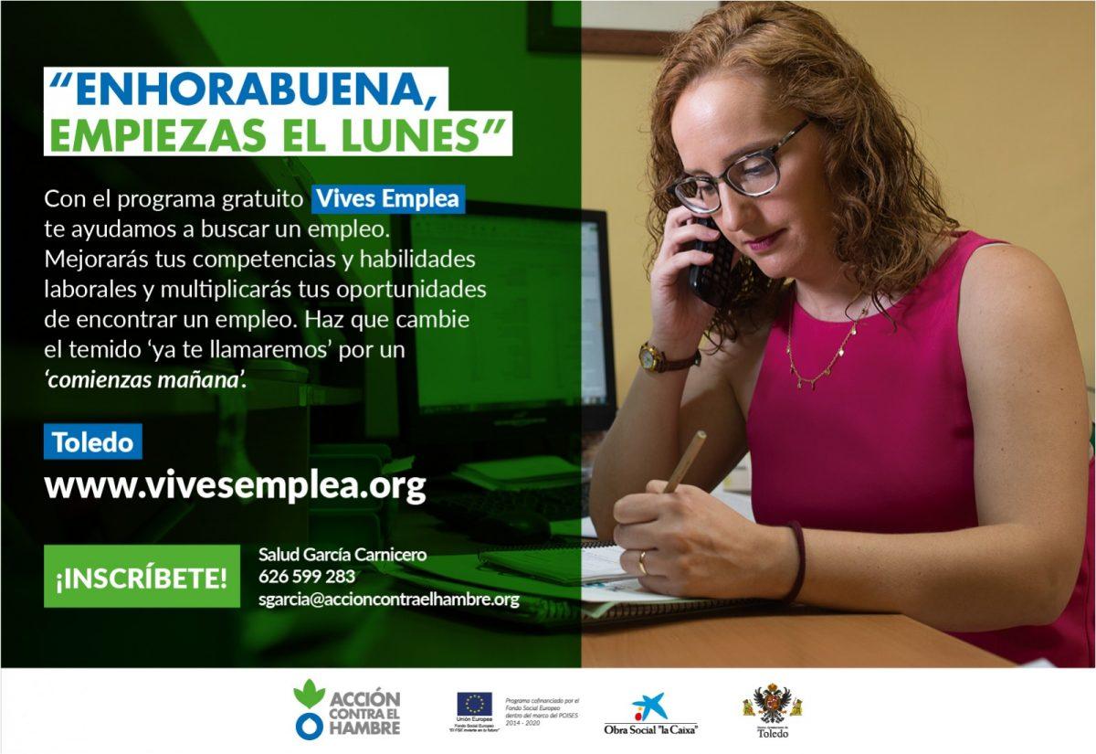 https://www.toledo.es/wp-content/uploads/2019/01/cartel-rrss-individual-1200x825.jpg. PROYECTO VIVES EMPLEA TOLEDO DE BÚSQUEDA DE EMPLEO EN EQUIPO. SESIONES INFORMATIVAS