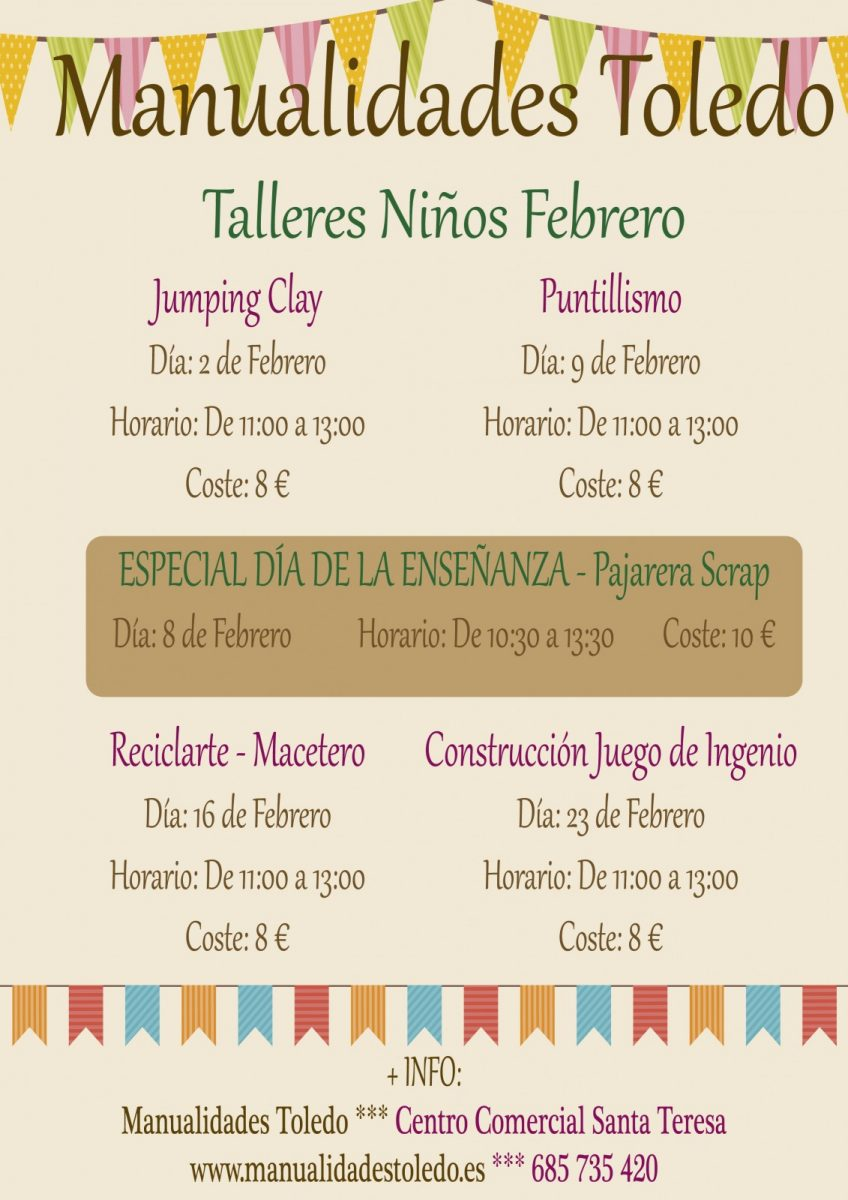 https://www.toledo.es/wp-content/uploads/2019/01/cartel-talleres-ninos-febrero-2019-003-848x1200.jpg. Taller de manualidades: ReciclArte – Macetero