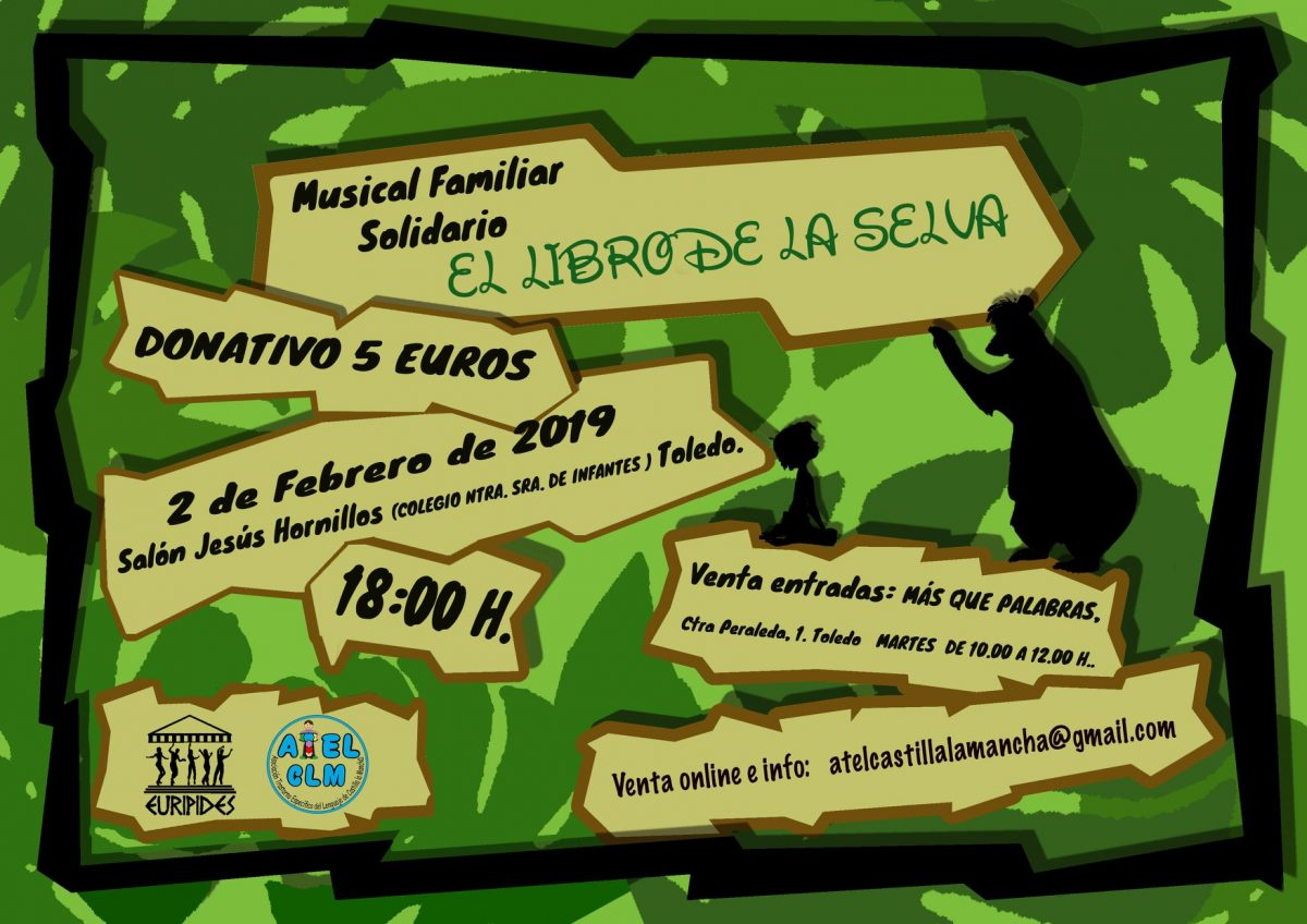 """http://www.toledo.es/wp-content/uploads/2019/01/el-libro-de-la-selva-1200x848.jpg. Musical Familiar Solidario """"El libro de la Selva"""""""