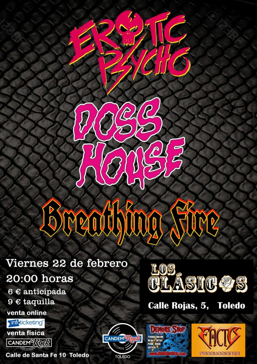 http://www.toledo.es/wp-content/uploads/2019/01/erotic-doss-01-848x1200.jpg. EROTIC PSYCHO + Doss House+ BREATHING FIRE