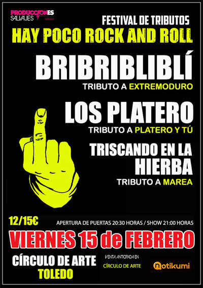 Festival de Tributos.-HAY POCO ROCK AND ROLL