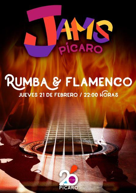 https://www.toledo.es/wp-content/uploads/2019/01/jam-rumba.jpg. PÍCARO JAMS. JAM FLAMENCA.-RUMBA/ FLAMENCO