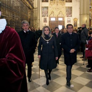 La alcaldesa participa en la eucaristía en rito hispano-mozárabe con motivo de la solemnidad de San Ildefonso