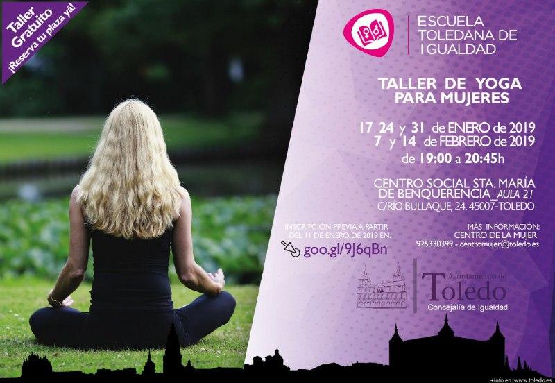 https://www.toledo.es/wp-content/uploads/2019/01/taller-yoga-enero-2019.jpg. ESCUELA TOLEDANA IGUALDAD. TALLER DE YOGA ENERO 2019