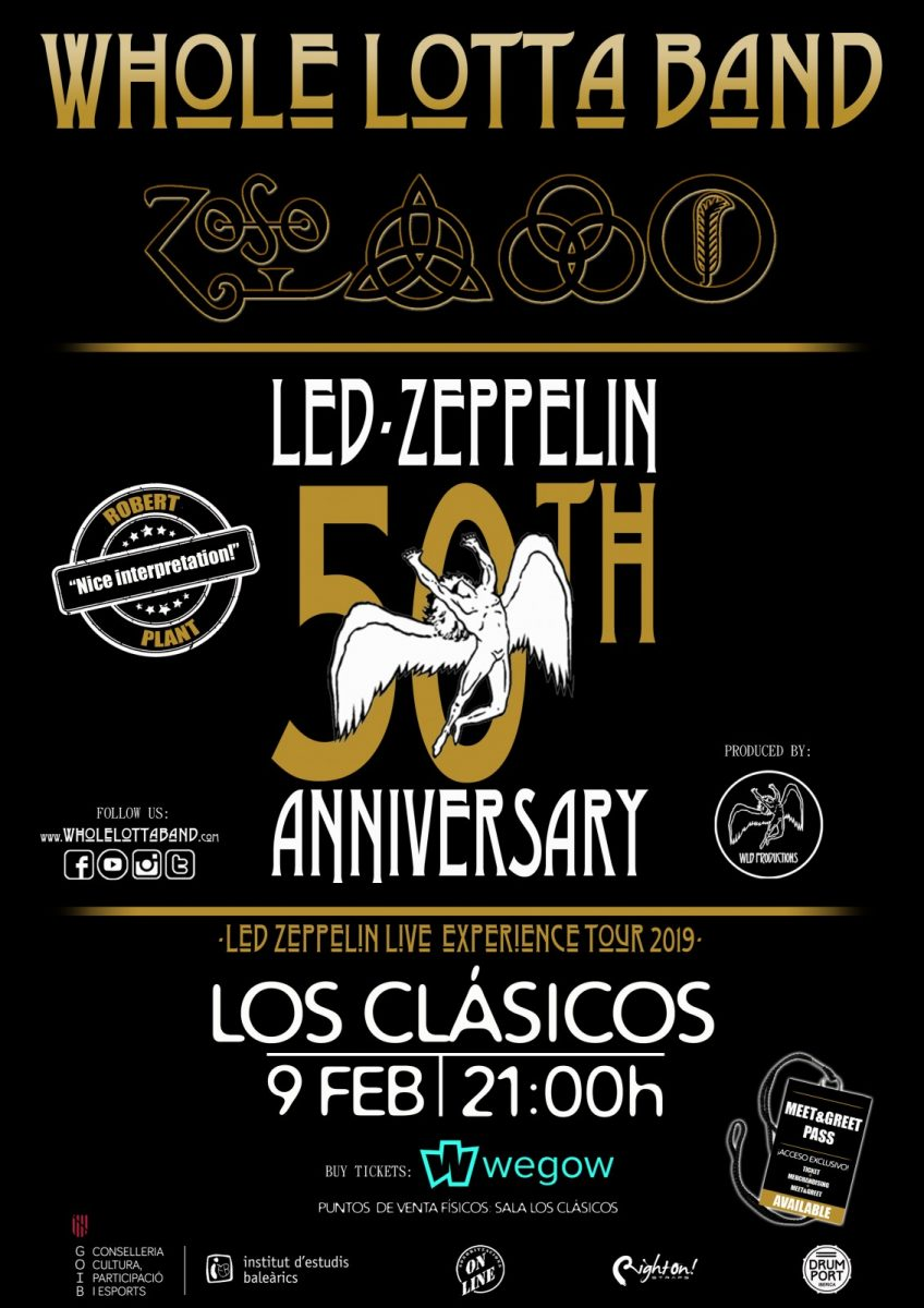 http://www.toledo.es/wp-content/uploads/2019/01/whole-848x1200.jpg. Whole lotta band. Led Zeppelin Live Experience tour 019