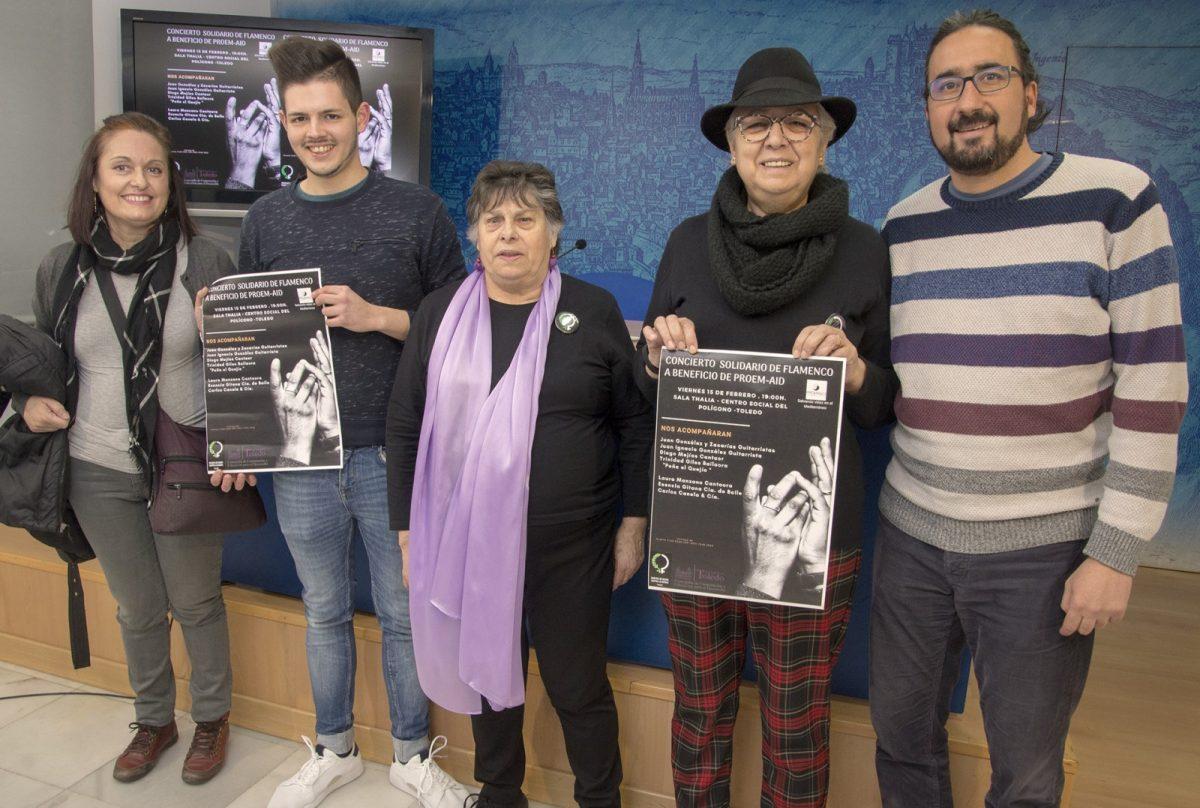 http://www.toledo.es/wp-content/uploads/2019/02/01-concierto-solidario-1200x808.jpg. El Ayuntamiento promueve junto a 'Mujeres de Negro' un concierto solidario de flamenco para recaudar fondos para 'Proem-Aid'
