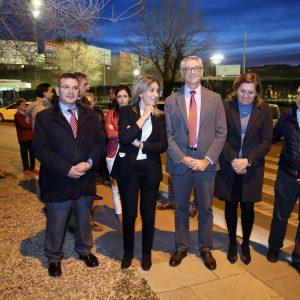 a glorieta del Salto del Caballo estrena iluminación led gracias al acuerdo alcanzado por la alcaldesa y el Ministerio de Fomento