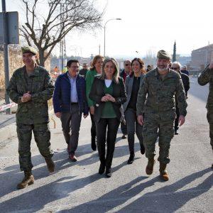 a alcaldesa visita la mejora integral de la Cuesta de San Servando y el acondicionamiento de la avenida Santa Bárbara