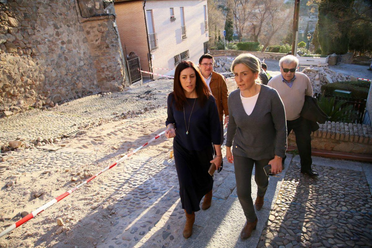 http://www.toledo.es/wp-content/uploads/2019/02/08_bajada_juan_reyes-1200x800.jpg. Las obras de accesibilidad y saneamiento de la Bajada San Juan de los Reyes permitirán la próxima apertura de los baños públicos