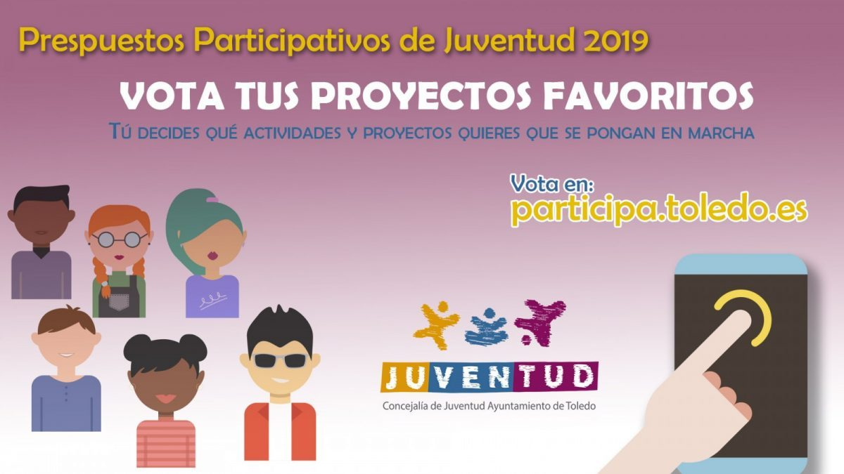 https://www.toledo.es/wp-content/uploads/2019/02/1-1-1-1200x6751-1200x675.jpg. Presupuestos Participativos Juventud 2019