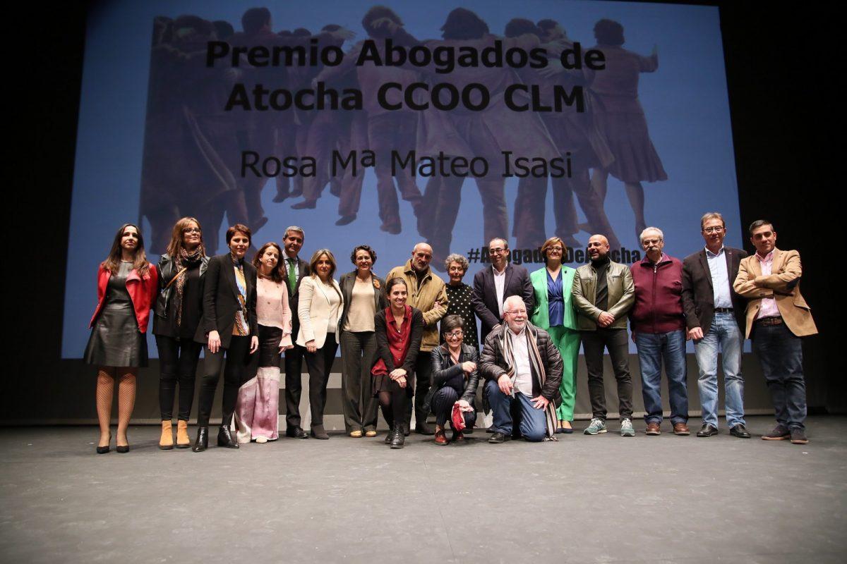 http://www.toledo.es/wp-content/uploads/2019/02/12_abogados_atocha-1200x800.jpg. Milagros Tolón alaba la figura de la periodista Rosa María Mateo como sinónimo de credibilidad y compromiso con la verdad