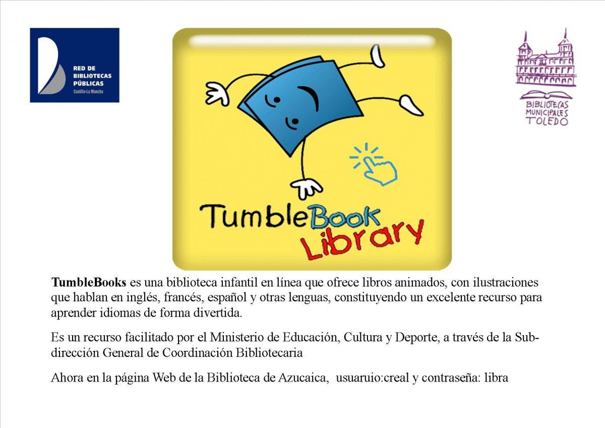 http://www.toledo.es/wp-content/uploads/2019/02/2-tumblebook-library-en-la-biblioteca-de-azucaica-1200x848.jpg. TumbleBook Library biblioteca infantil en línea, ofrece libors animados en inglés, francés y español