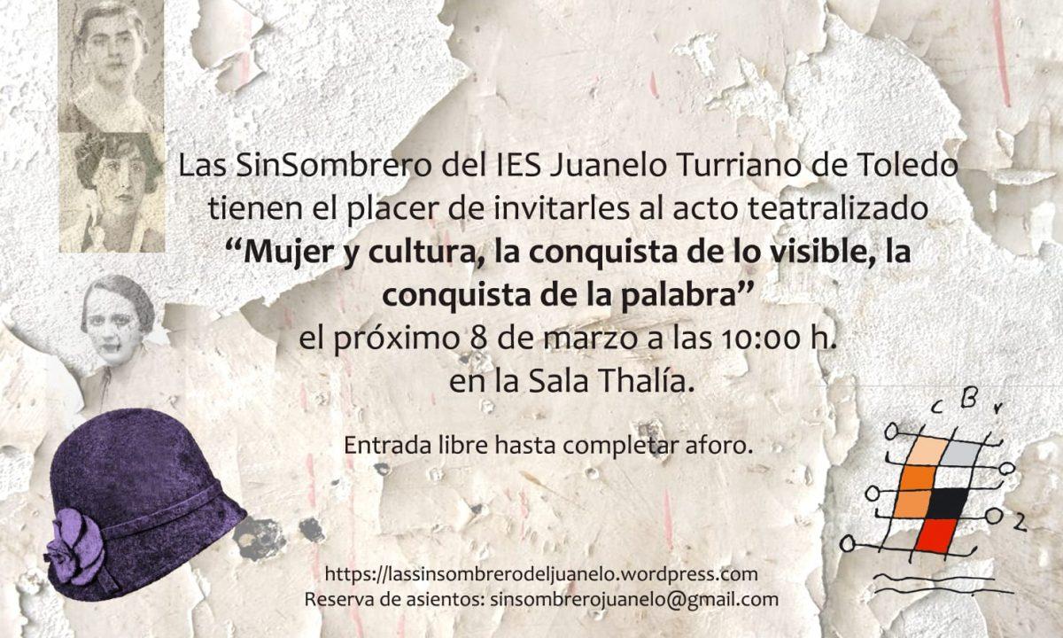 https://www.toledo.es/wp-content/uploads/2019/02/8-marzo-1200x720.jpg. MUJER Y CULTURA. La conquista de lo Visible, la conquista de la Palabra.