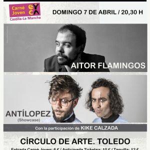 III Encuentro de Canción de Autor: Concierto Kike Calzada; Aitor Flamingos y Antílopez