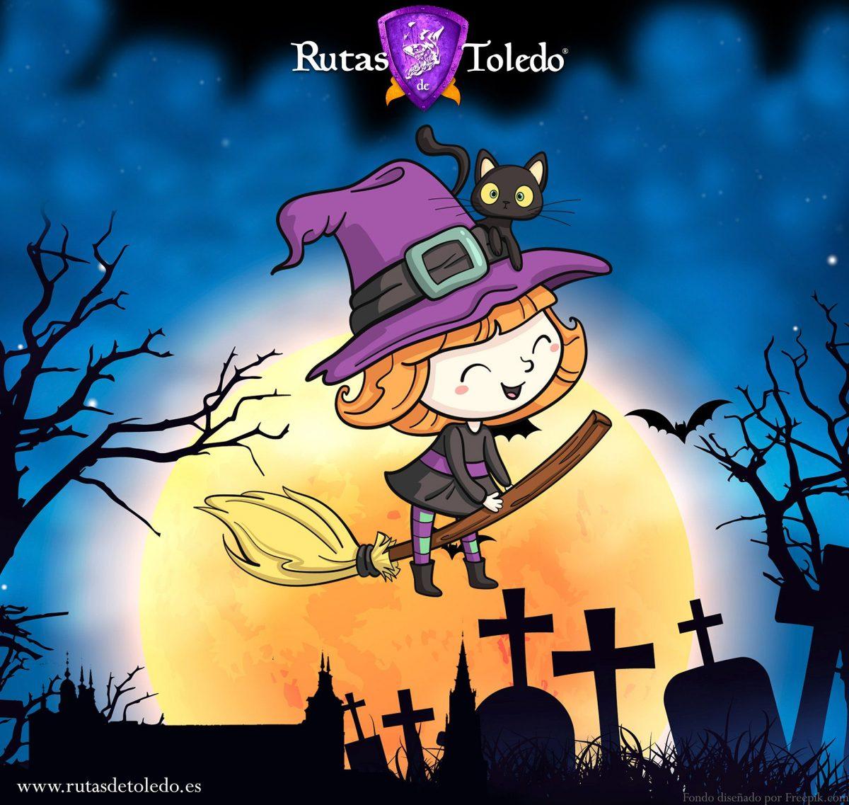 "https://www.toledo.es/wp-content/uploads/2019/02/brujasd-de-toledo-cuadradorrss-1200x1137.jpg. Ruta infantil ""El misterio de las Brujas de Toledo"""