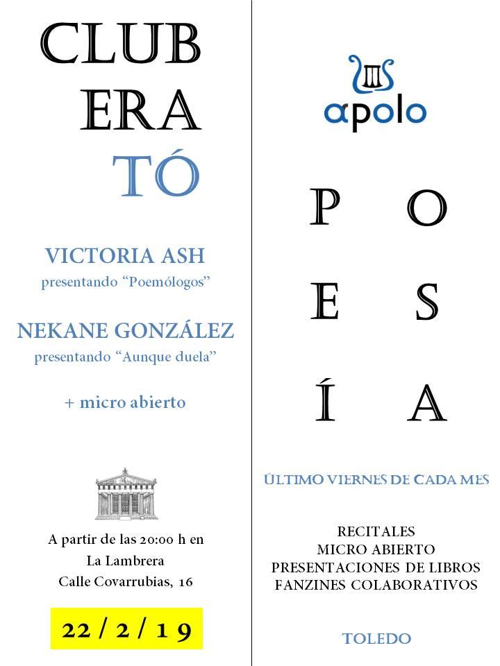 https://www.toledo.es/wp-content/uploads/2019/02/cartel-febrero-club-erato.jpg. CLUB ERATÓ (Club de poesía)
