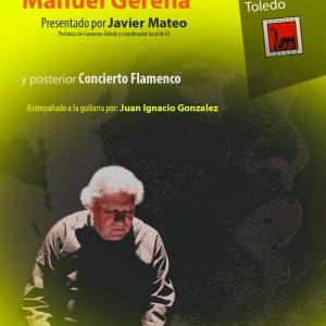 """Proyección del Documental """"LA VOZ EN LUCHA"""" sobre la vida de Manuel Gerena y concierto Flamenco."""