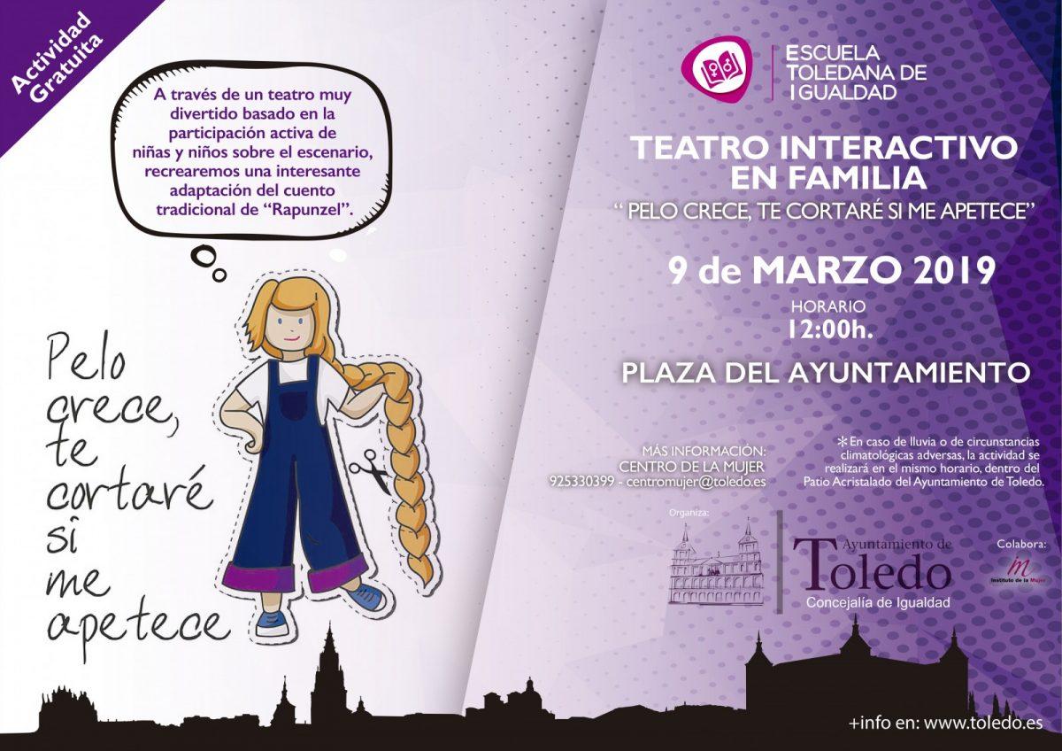 http://www.toledo.es/wp-content/uploads/2019/02/cartel-teatro-interactivo-1200x848.jpg. TEATRO EN FAMILIA «PELO CRECE, TE CORTARÉ SI ME APTECE» 9 de marzo 2019