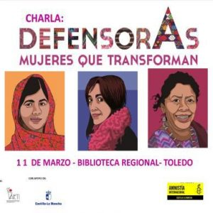 Charla: Defensoras, mujeres que transforman