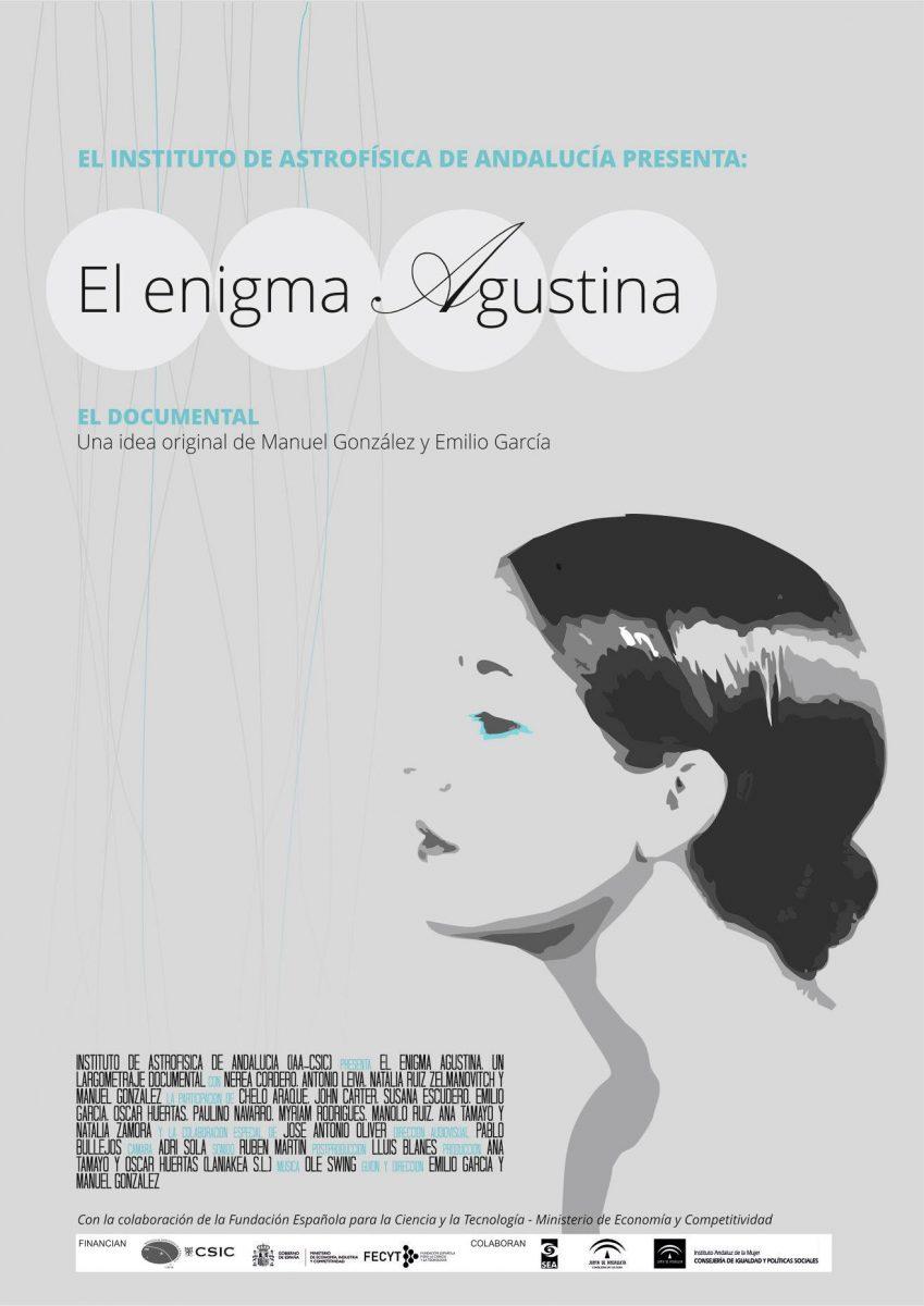 """https://www.toledo.es/wp-content/uploads/2019/02/enigma-agustina-849x1200.jpg. CIENCIA A LA CARTA: Proyección de documental """"El enigma Agustina""""."""