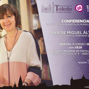 """onferencia """"La perspectiva feminista: Un mundo con rumbo"""", Ana de Miguel Álvarez"""