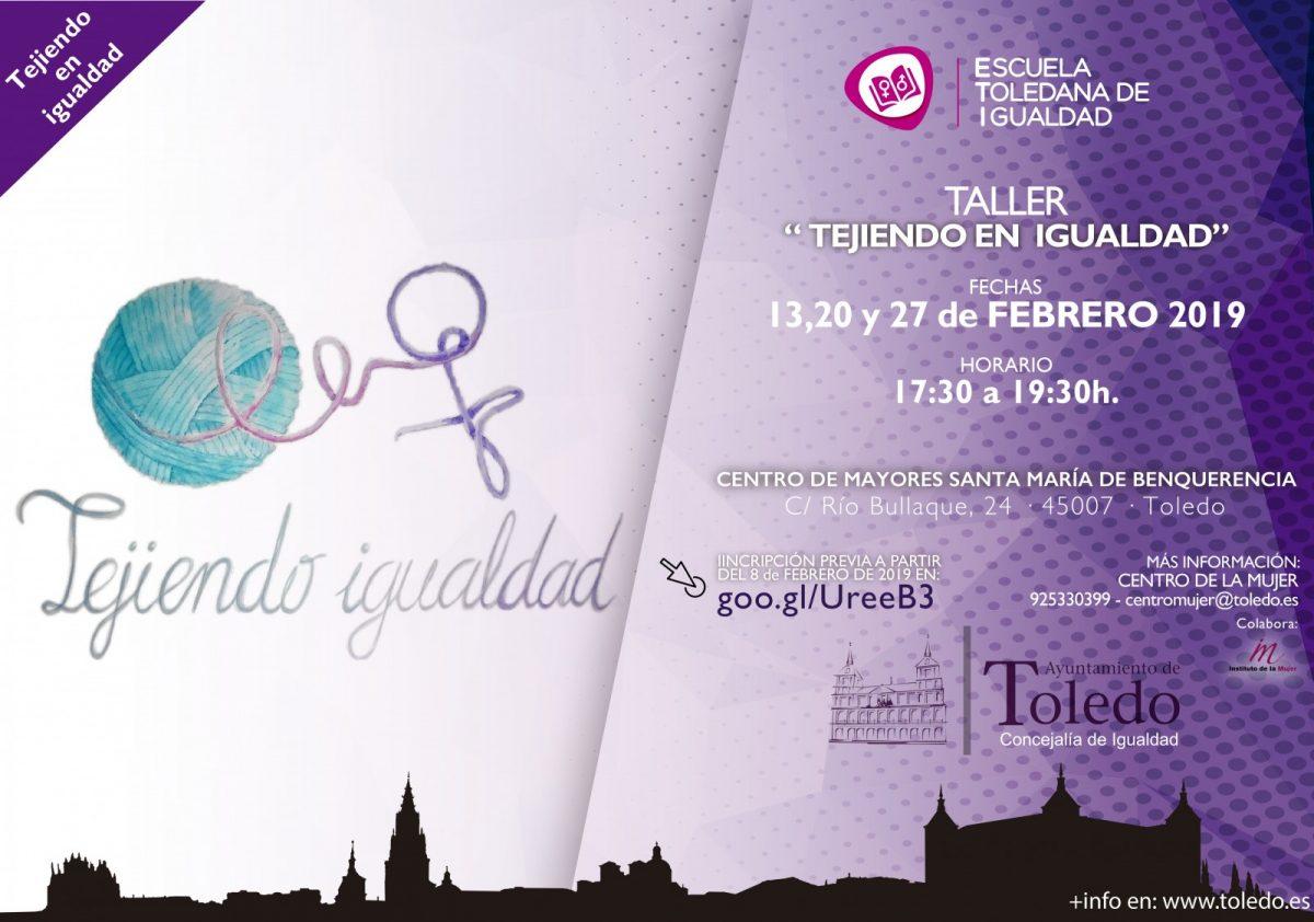 """http://www.toledo.es/wp-content/uploads/2019/02/eti-tejiendo-en-igualdad-1200x842.jpg. TALLER """"TEJIENDO IGUALDAD"""" ESCUELA TOLEDANA DE IGUALDAD."""