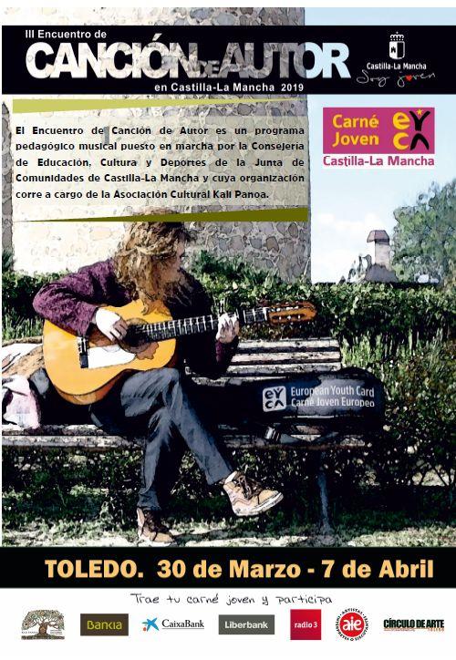 https://www.toledo.es/wp-content/uploads/2019/02/iii-encuentro-cancion-de-autor.jpg. III Encuentro de Canción de Autor: Micro Abierto. Conducido por Andrés Sudón