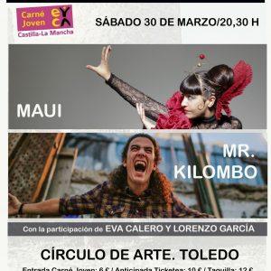 III Encuentro de Canción de Autor: Concierto Eva Calero y Lorenzo García; Mr Kilombo y Maui