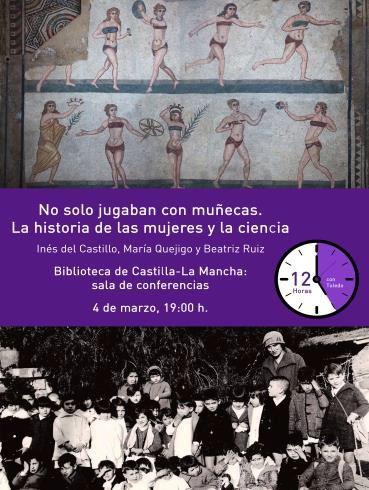 https://www.toledo.es/wp-content/uploads/2019/02/no-solo-jugaban-con-munecas.jpg. Charla: No solo jugaban con muñecas: La historia de las mujeres y la ciencia