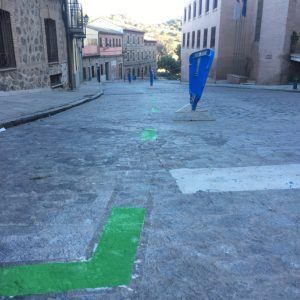 os residentes del Casco cuentan ya con 32 nuevas plazas de aparcamiento en la calle Cervantes y nuevo horario de protección