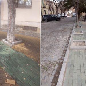 l Ayuntamiento actúa en la mejora del adoquinado de la Plaza de la Cruz Verde a través de trabajadores del Plan de Empleo