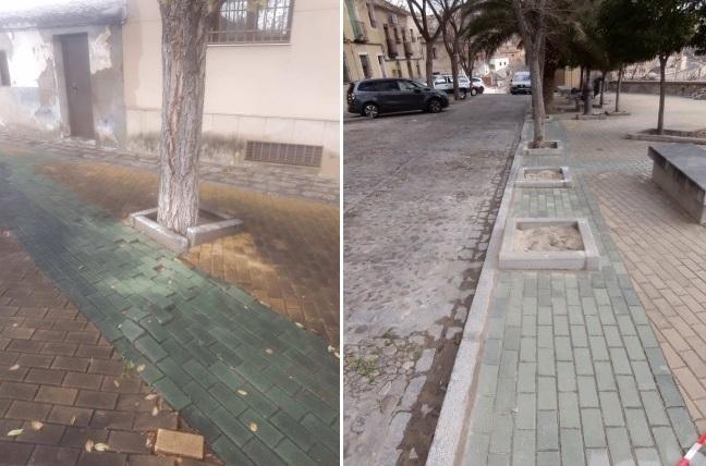 http://www.toledo.es/wp-content/uploads/2019/02/plaza.jpg. El Ayuntamiento actúa en la mejora del adoquinado de la Plaza de la Cruz Verde a través de trabajadores del Plan de Empleo