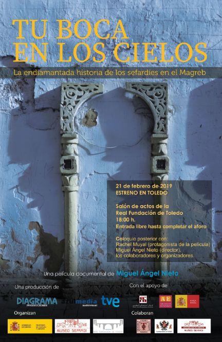 """https://www.toledo.es/wp-content/uploads/2019/02/sefardies.jpg. Proyección """"Tu boca en los cielos"""""""