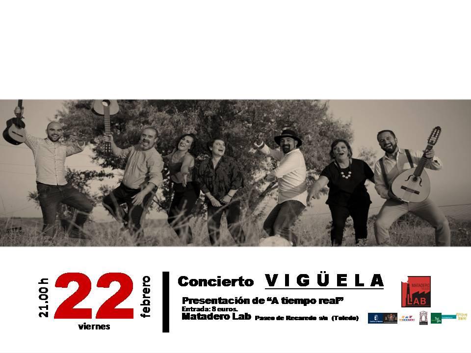 """https://www.toledo.es/wp-content/uploads/2019/02/vigueela-cartel-blanco-y-negro-2.jpg. Concierto de Vigüela- Presentación de """"A tiempo real"""""""