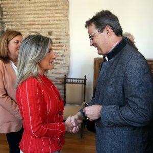 a alcaldesa recibe en las Casas Consistoriales al presidente del Consejo de los Estados de Suiza en su visita oficial a España